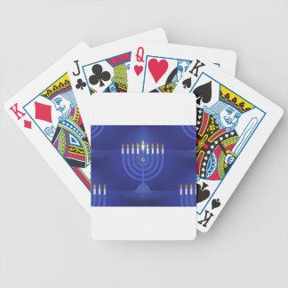 blaues glückliches Chanukka Bicycle Spielkarten