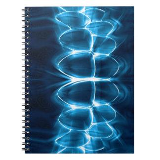 Blaues glühendes Zahn-Biss-Zahnarzt-Notizbuch Notizbuch
