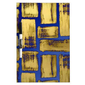 Blaues Goldbrushstroke-Aquarell-Muster Memoboard