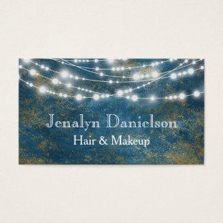 Blaues Goldelegante festliche hängende Visitenkarte