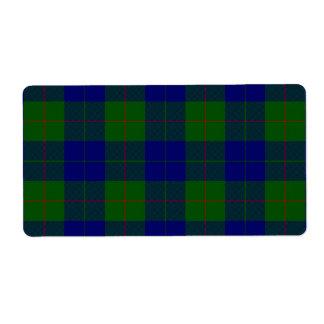 Blaues Grün Barclay-Clan Tartan kariert