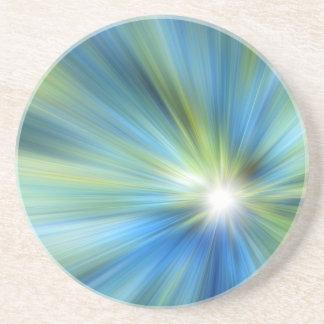 Blaues Grün-Explosion Getränkeuntersetzer