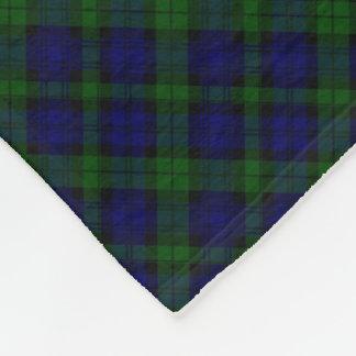 Blaues Grün schwarzen Uhrclan Tartan kariert Fleecedecke