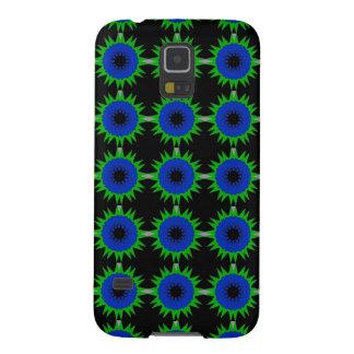 Blaues Grün-Stern auf Kasten Samsung-Galaxie-S5 Hülle Fürs Galaxy S5