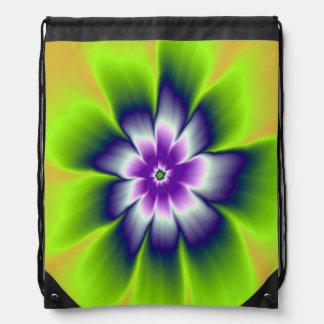 Blaues Grün-und Veilchen-Gänseblümchen-Blume Sportbeutel