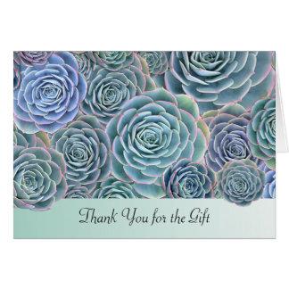 Blaues GrünSucculents danken Ihnen Geschenk Karte
