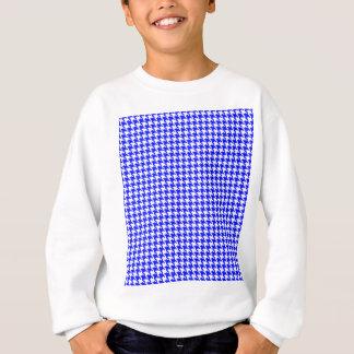 Blaues Hahnentrittmuster-Muster Sweatshirt
