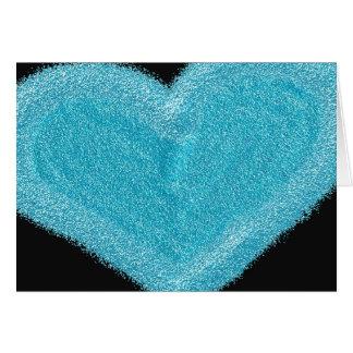 Blaues Herz kundengebundene Verlobungskarte Karte
