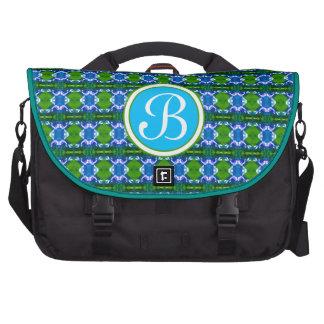 Blaues Juwel-Muster Laptop Tasche
