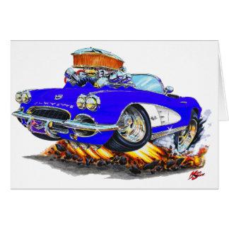 Blaues Kabriolett 1961 Korvette Karte