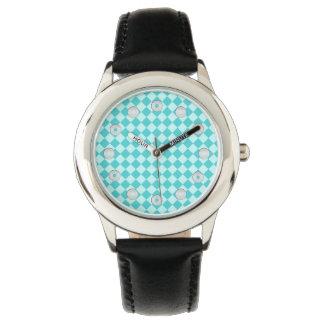 Blaues Kombinations-Diamant-Muster durch Shirley Armbanduhr