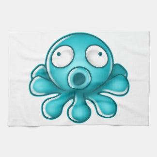 Blaues Kraken-Japaner-Logo Handtuch