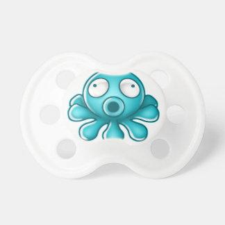 Blaues Kraken-Japaner-Logo Schnuller