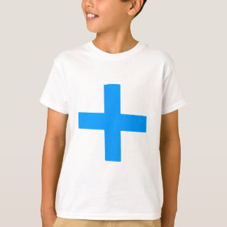 Blaues Kreuz T-Shirt