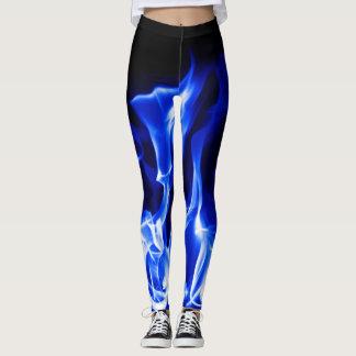 Blaues legging Feuer Leggings