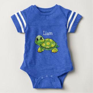 """Blaues """"Liam"""" Schildkröte-Baby-T-Stück, Baby Strampler"""