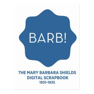 Blaues Logo Postkarte