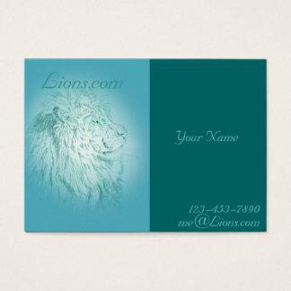 Blaues Löwe ~ mollige Visitenkarte