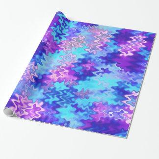 Blaues Marmorierungabstraktes Geschenkpapier