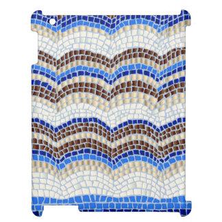 Blaues Mosaik glatter iPad Fall iPad Hülle