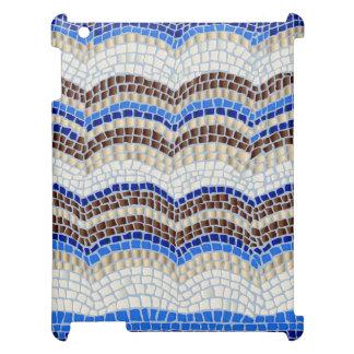 Blaues Mosaik MattiPad Fall iPad Hülle