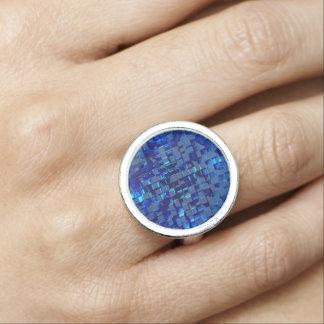 blaues Mosaik Ring