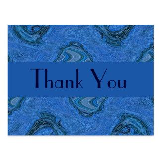 blaues Muster danken Ihnen Postkarte
