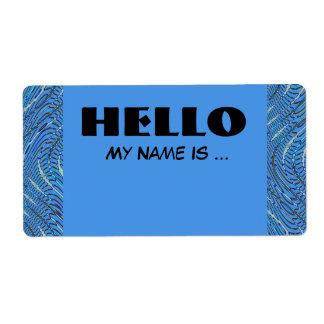 blaues NamensAbzeichen