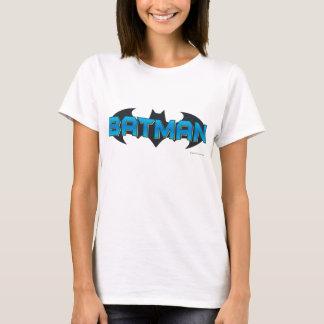 Blaues Namenslogo Batmans | T-Shirt