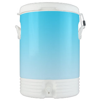 Blaues Ombre Igloo Getränke Kühlhalter