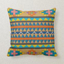 Blaues orange und gelber Azteke-inspiriertes