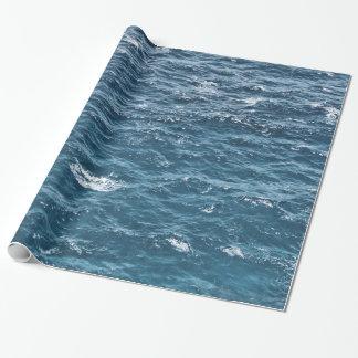 Blaues Ozean-nautischwasser Geschenkpapier