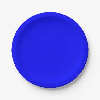 Blaues Papier-Teller Pappteller 17,8 Cm