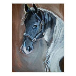 Blaues Pferd Postkarte