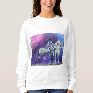 Blaues Pferd Sweatshirt