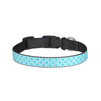 Blaues Polka-Punkt-Hundehalsband Leine