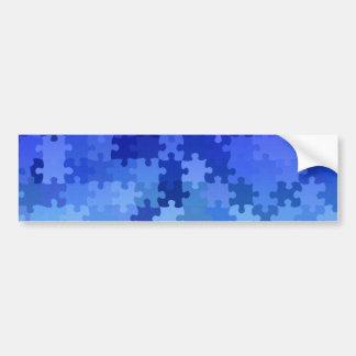 Blaues Puzzlemuster Autoaufkleber