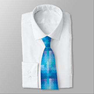 Blaues Puzzlespiel-Muster-Autismus-Bewusstsein Krawatte