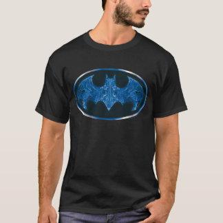 Blaues Rauch-Schläger-Symbol T-Shirt
