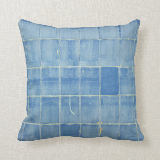 Blaues Rechteck abstrakt Kissen