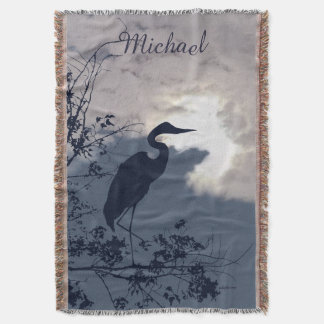 Blaues Reihersonnenuntergang-Vogelaufpassen Decke
