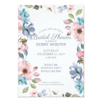 Blaues rosa lila Wedding PastellBrautparty Karte