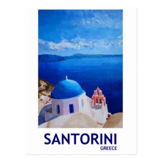 Blaues Santorini, Griechenland - Ansicht von Oia Postkarte
