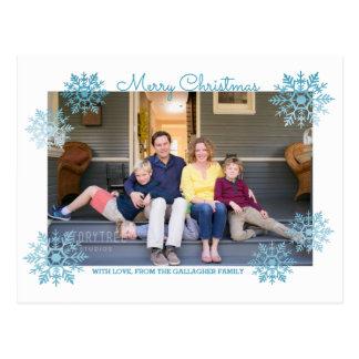 Blaues schimmerndes postkarte