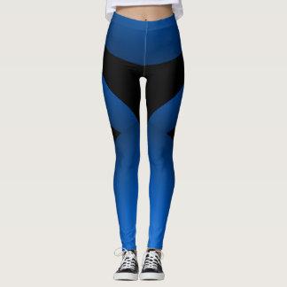 Blaues Schwarz-sportliches Chic, das Leggings