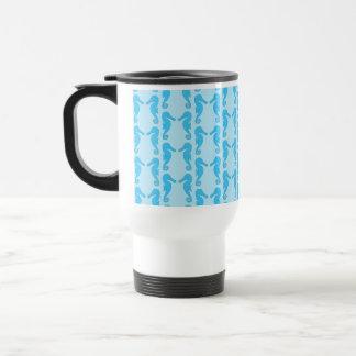 Blaues Seepferd-Muster Reisebecher