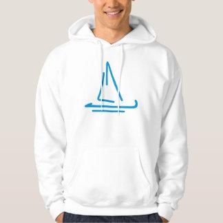 Blaues Segelboot Hoodie