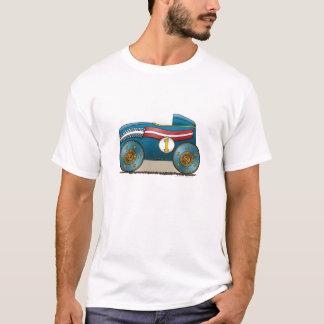 Blaues Seifen-Waggon-Kleid T-Shirt