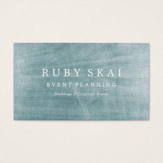 Blaues Silber-strukturierte Visitenkarte