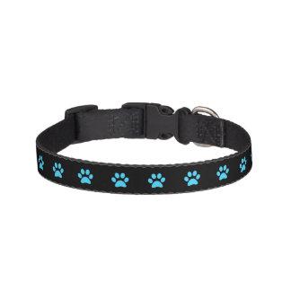 Blaues Tatzen-Druck-Hundehalsband Haustierhalsband